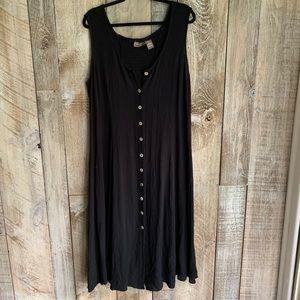 Vintage Rayon Abalone Shell Button Sun Dress